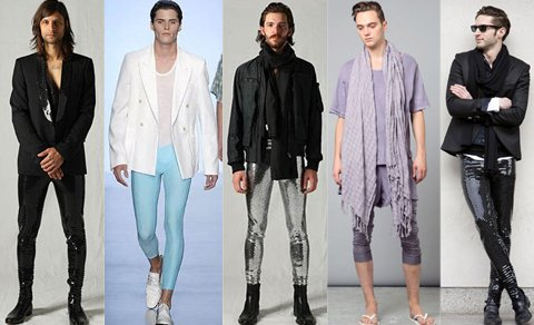 La stravagante moda dei meggings: i leggings maschili